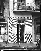 """[Painted Doorway of """"French Opera"""" Barber Shop on Bourbon Street, New Orleans, Louisiana]"""