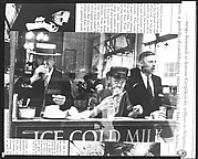"""[Copy of Print of """"New York Lunch Counter"""" on Top of Fortune Magazine Page]"""