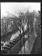 [Parked Cars and Elm Trees on Broadway, From High Elevation, Saratoga Springs, New York]
