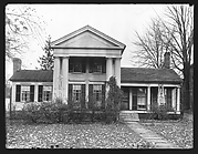 [Greek Revival House with Paired Doric Columns, New York]