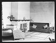 [Living Room Interior of Modernist House, Residence of Lyman Paine and Ruth Forbes, Naushon Island, Massachusetts]