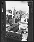 [Cityscape with West 31st Street Buildings and Smokestacks, New York City]