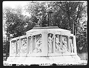 "[Public Monument: ""The Early Settlers of New England"" (Maurice Sterne, ca. 1930) in Elm Park, Worcester, Massachusetts]"
