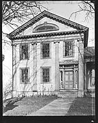 [Greek Revival House with Half-Lunette Window in Full-Façade Gable, Cherry Valley, New York]