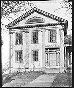 [Greek Revival House with Half-Lunette Window in Gable, Cherry Valley, New York]