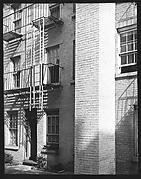 [Oblique View of Apartment Building Façade, New York City]