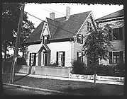[Gothic Revival House with Trellised Entry Porch, Salem, Massachusetts]