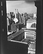 [Cityscape with West 31st Street Buildings and Smokestacks, From High Elevation, New York City]