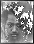 [South Seas: Woman with Flower Garland in Hair]