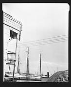 [Harbor Scene with Building Corner in Foreground, Havana]
