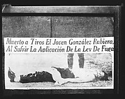"[Copy of Newspaper File Clipping: Photograph of Dead Body with Caption: ""Muerto a Tiros..."", Havana]"