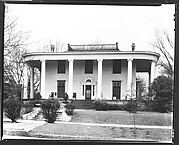 [Greek Revival House with Ionic Capitals and Rounded Roof Corners, Macon, Georgia]