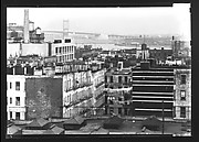 [93rd Street Apartment Buildings with East River in Distance, New York City]