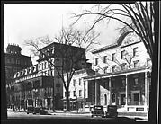 [View of Broadway Showing Adelphi and Rip Van Dam Hotels, Saratoga Springs, New York]