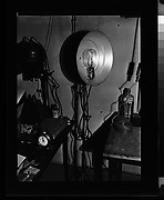 [Walker Evans's Darkroom at 92 Fifth Avenue with Enlarger and Lamp, New York City]