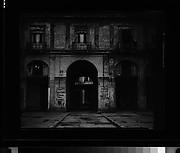 [Courtyard Colonnade Façade with Political Wallwriting, Havana]