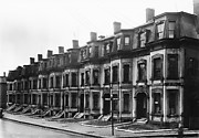 [Second Empire Row Houses on Cedar Street, Boston, Massachusetts]
