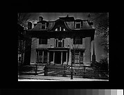 [Second Empire House with Bell-Shaped Dormer in Pediment, Cambridge, Massachusetts]