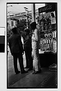 [Three Men in Front of Newspaper Kiosk, Havana]