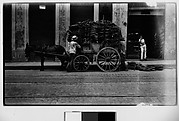 [Vendors and Covered Cart with Mule, Havana]