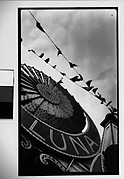 [Luna Park Sign Detail and Carnival Flags, Coney Island, New York]