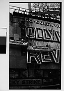 "[Workers Mounting Neon Sign for ""Hollywood Revue of 1929"", Times Square, New York City]"