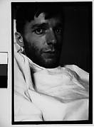 [Self-portrait in New York Hospital Bed, New York City]
