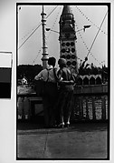 [Couple in Luna Park From Behind, Coney Island, New York]