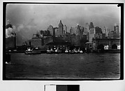[Downtown Manhattan and Steamers from Brooklyn Bridge, New York City]