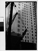 [Construction Site with Cranes and Cables, New York City]