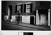 [Town Houses on Sloping Street, Possibly Beacon Hill, Boston, Massachusetts]