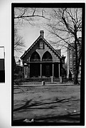 [Wooden Gothic Revival House, Seen from Across Street, Cambridge, Massachusetts]