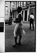 [Woman Standing on Street, Havana]