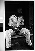 [Man Asleep on Stoop, Havana]