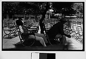 [Men Seated in Chairs in Public Park, Parque Fraternidad, Havana]