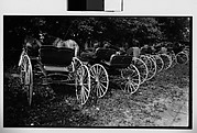 [Row of Horse-Drawn Carriages, Quebec, Canada]