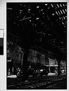 [View of Street From Underneath Elevated Train Tracks, New York City]