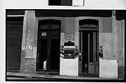 "[Barber Shop ""La Confianza"" Doorways with Painted Advertisements on Wall, Havana]"