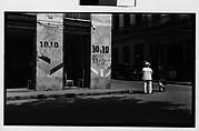 [Street Scene with Barber Shop on Corner, Havana]