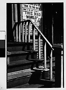 [Shadows on Outside Stairway with Movie Poster, New York City?]