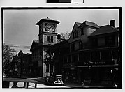 [Main Street with Parked Car and Italianate Clocktower]