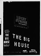 """[Neon Signs at Night for Lucky Strike Cigarettes and """"The Big House"""", Times Square, New York City]"""