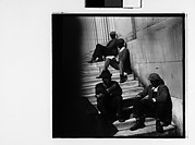 [Men Seated on Steps of Public Building, Southeastern U.S.]
