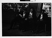 [Three Men Seated in Chairs on Sidewalk, New York City]