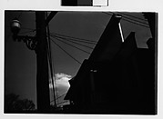 [Jigsaw Trim Roofline of Saake's Drugstore with Streetlight and Power Lines, Probably Millerton, New York]