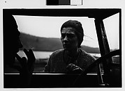 [Beatrice Jacoby Talking to Man Through Window of Parked Car, Probably Vicinity Millerton, New York]