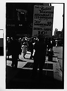 [Man with Sandwich Board Advertisement, Fourteenth Street, New York City]