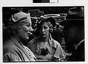 [Two Women and Man in Conversation on Street, New York City]