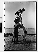 [Human Pyramid on Beach, Coney Island?, New York]