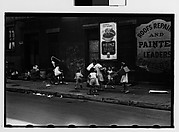 [Children Playing on Sidewalk, Greenwich Village, New York City]